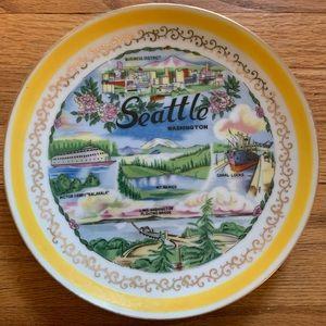 Vintage Seattle, Washington Souvenir Plate